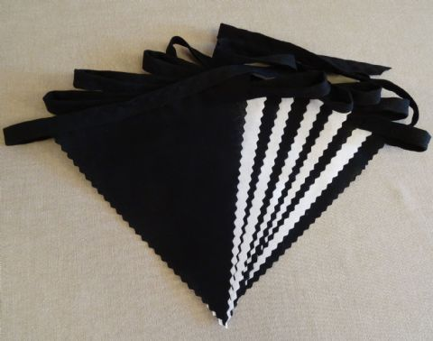 BUNTING White & Black on Black Tape - 3m/10ft or 5m/16ft
